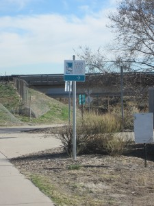 Trail Sign on South Platte Greenway
